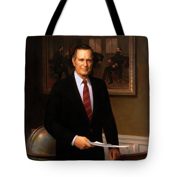 George Hw Bush Presidential Portrait Tote Bag