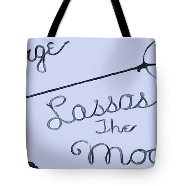 George Lassos The Moon Tote Bag by Dan Sproul