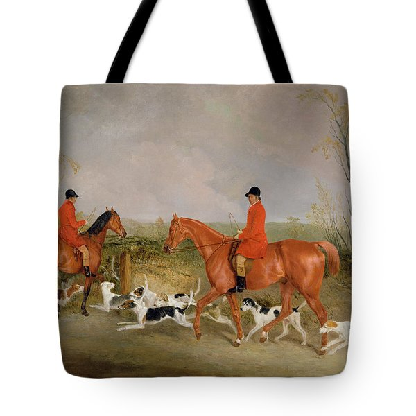 George Mountford, Huntsman To The Quorn, And W. Derry, Whipper-in, At John Ogaunts Gorse, Nr Melton Tote Bag