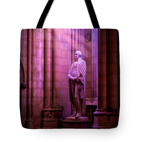 George Washington At The National Cathedral Tote Bag
