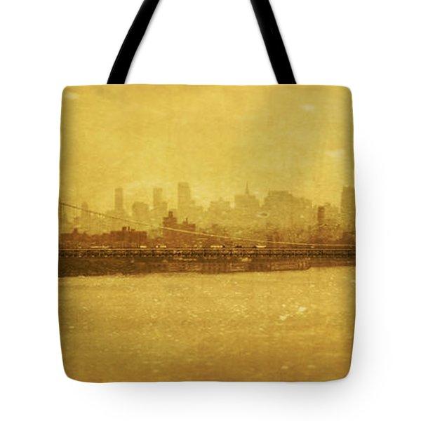 Tote Bag featuring the photograph George Washington Bridge by Debra Fedchin