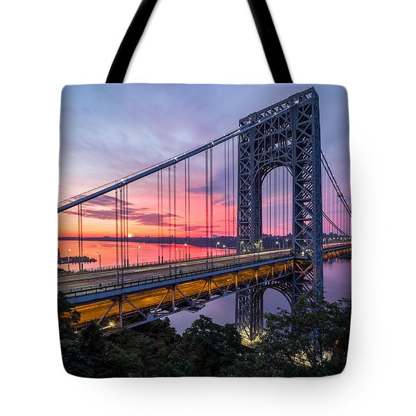 Tote Bag featuring the photograph George Washington Bridge by Mihai Andritoiu