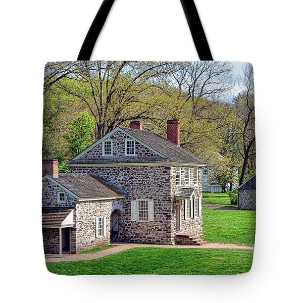 George Washington Headquarters At Valley Forge Tote Bag
