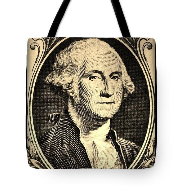 George Washington In Sepia Tote Bag