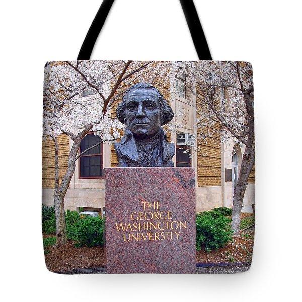 George Washington University Bust 1958 Tote Bag