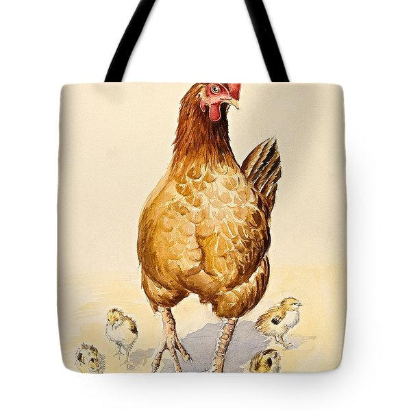George's Hen And Her Chicks Tote Bag