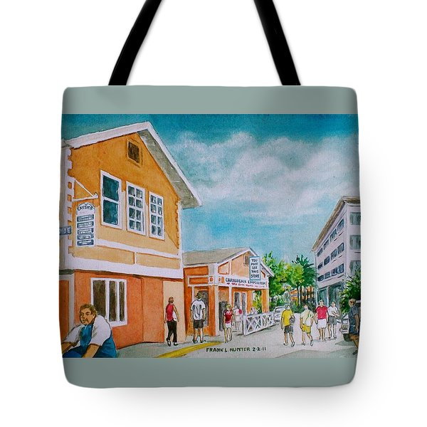 Georgetown Grand Cayman Tote Bag by Frank Hunter