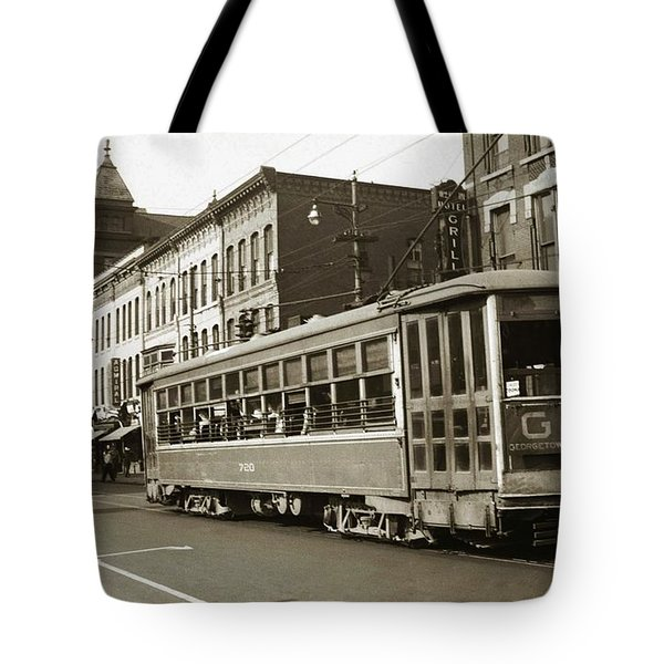 Georgetown Trolley E Market St Wilkes Barre Pa By City Hall Mid 1900s Tote Bag
