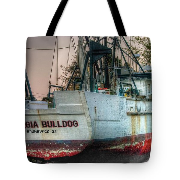 Georgia Bulldog Tote Bag by Dennis Baswell