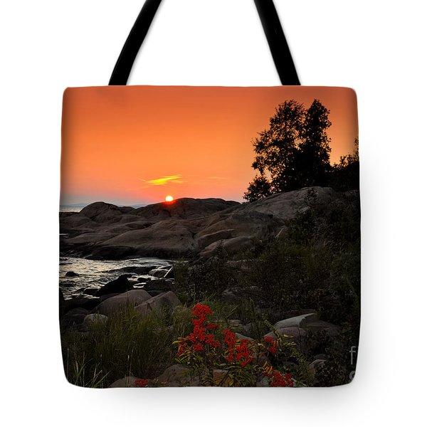 Georgian Bay Sunset Tote Bag
