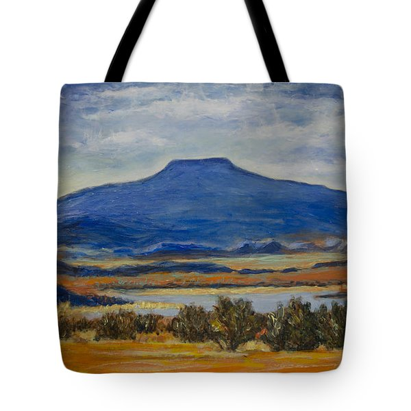 Tote Bag featuring the painting Georgia's Mountain by Ron Richard Baviello