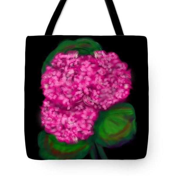 Tote Bag featuring the digital art Geranium by Christine Fournier