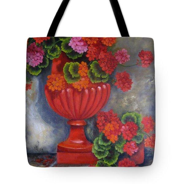 Geranium Tote Bag by Katia Aho
