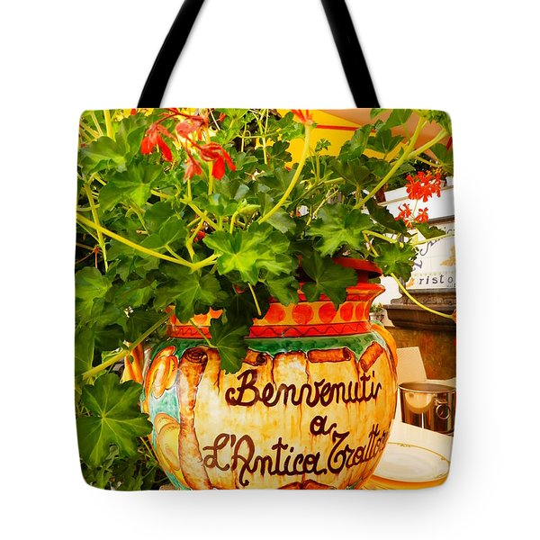 Geranium Planter Tote Bag by Pema Hou