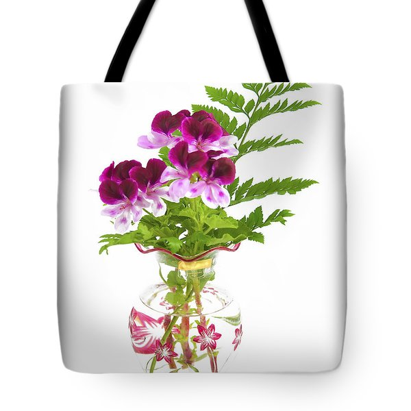 Tote Bag featuring the photograph Geranium 'witchwood' by Richard J Thompson