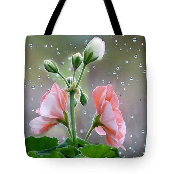 Tote Bag featuring the photograph Geraniums by Geraldine Alexander