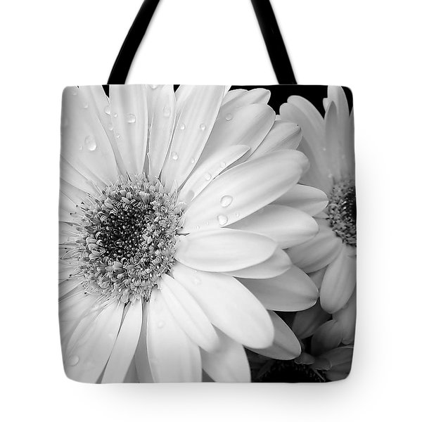 Gerber Daisies In Black And White Tote Bag