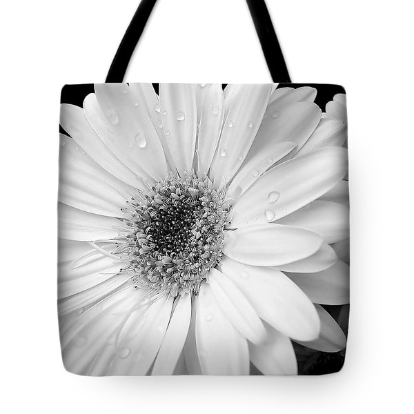 Gerber Daisies In Black And White Tote Bag by Jennie Marie Schell