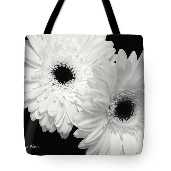 Tote Bag featuring the photograph Gerbera Daisy Sisters by Jeannie Rhode