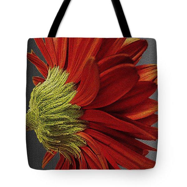 Gerbera In Red Tote Bag by Megan Washington
