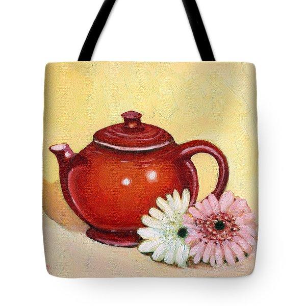 Gerberas Tote Bag by Katherine Miller