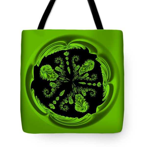Gerbia Daisy Digitized Orb Tote Bag