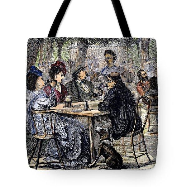German Beer Garden, 1870 Tote Bag by Granger
