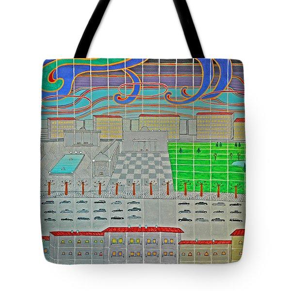 German Cityscape Tote Bag
