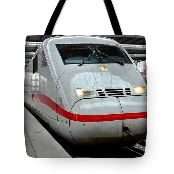 German Ice Intercity Bullet Train Munich Germany Tote Bag