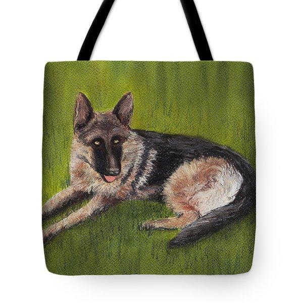 German Shepherd Tote Bag by Anastasiya Malakhova
