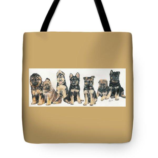 German Shepherd Puppies Tote Bag by Barbara Keith