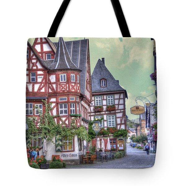 German Village Along Rhine River Tote Bag