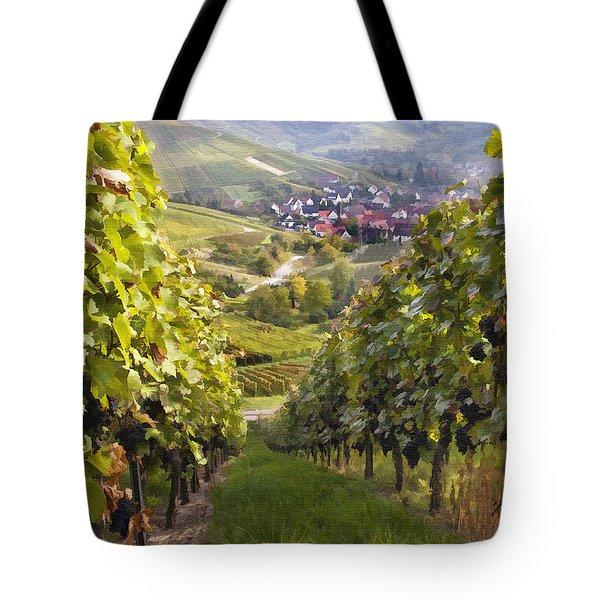 German Vineyard Tote Bag by Sharon Foster