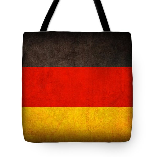 Germany Flag Vintage Distressed Finish Tote Bag by Design Turnpike