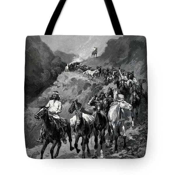 Geronimo And His Band Returning From A Raid Into Mexico Tote Bag