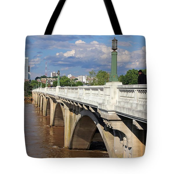 Tote Bag featuring the photograph Gervais Street Bridge 1 by Joseph C Hinson Photography