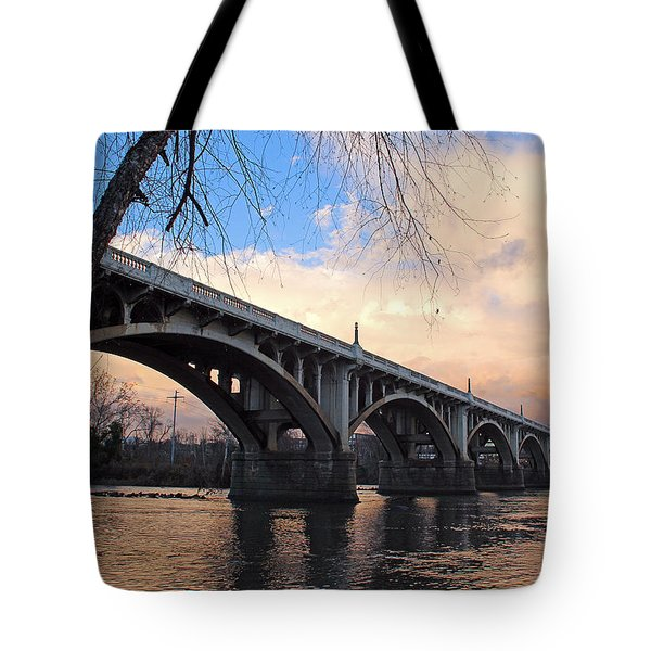 Tote Bag featuring the photograph Gervais Street Bridge by Joseph C Hinson Photography