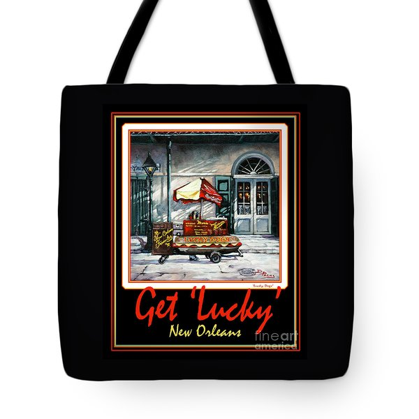 Get ' Lucky ' -  New Orleans Tote Bag by Dianne Parks