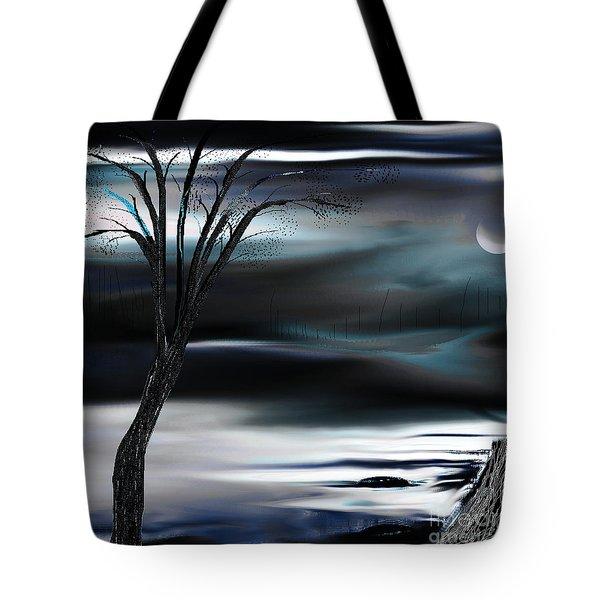 Tote Bag featuring the painting Get Back To Serenity by Yul Olaivar