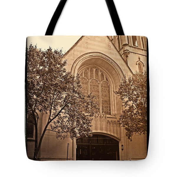 Get Me To The Church Tote Bag by Donna Blackhall