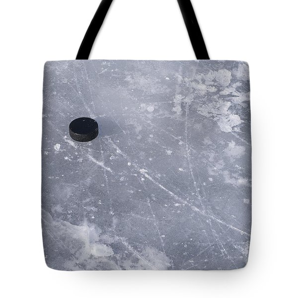 Get The Puck Outta Here Tote Bag by Steven Ralser