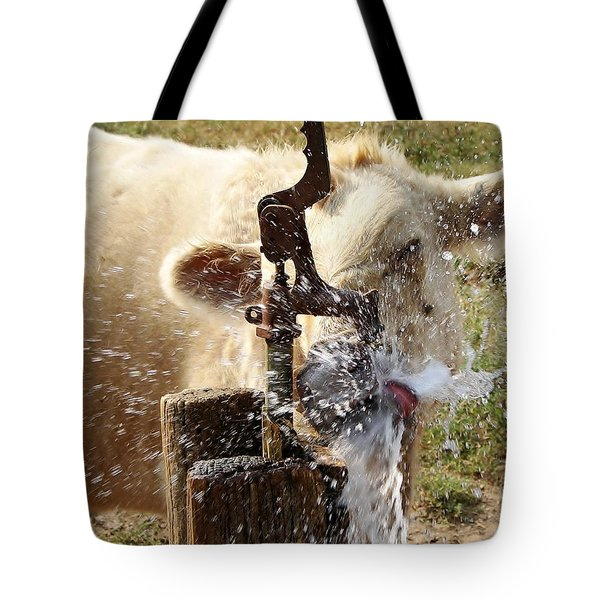 Getting A Drink Tote Bag