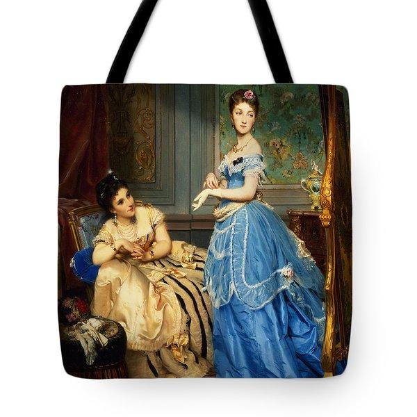 Getting Dressed, 1869 Tote Bag