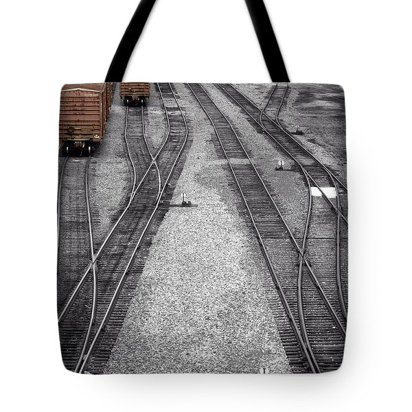 Getting On The Right Track Tote Bag