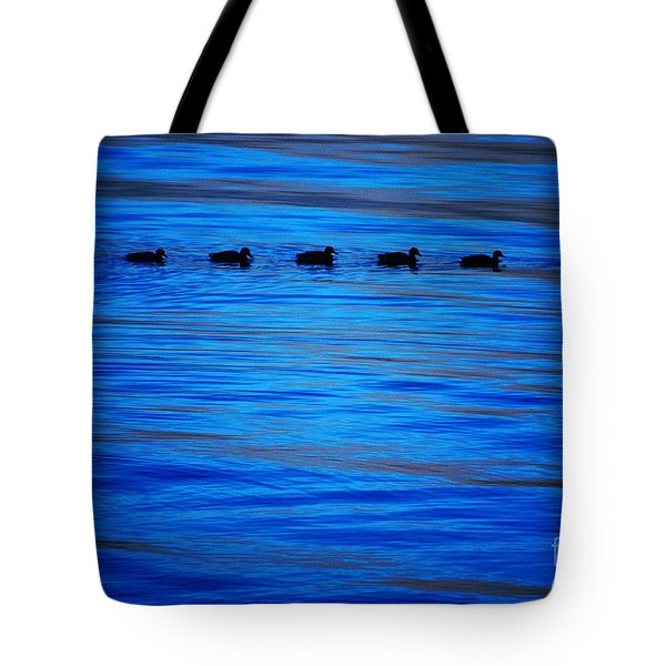 Getting Your Ducks In A Row Tote Bag