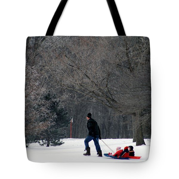 Tote Bag featuring the photograph Getty-up Daddy by Kay Novy