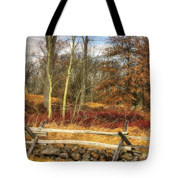 Gettysburg At Rest - Almost Home  - J. Weikert Farm Autumn Tote Bag