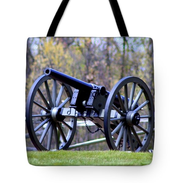 Gettysburg Battlefield Cannon Tote Bag by Patti Whitten