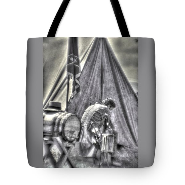 Tote Bag featuring the photograph Gettysburg In The Camp - Counting The Losses by Michael Mazaika