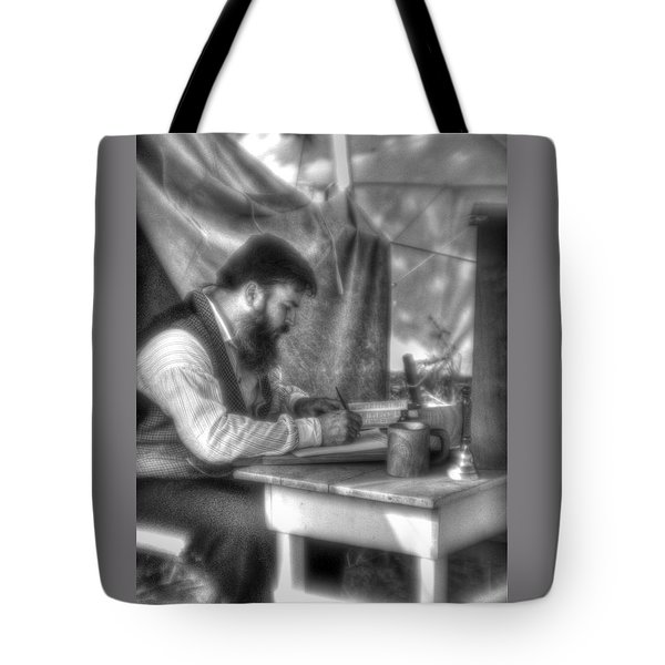 Gettysburg In The Camp - The Chaplain's Letter Home Tote Bag